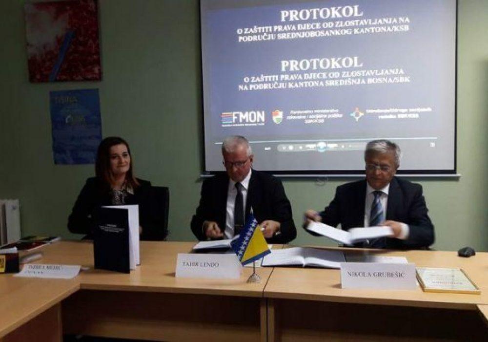 Potpisan protokol o zaštiti prava djece od zlostavljanja na području SBK/KSB